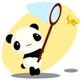 Panda and net Royalty Free Stock Images