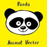 Panda niedźwiedzia ręka rysująca Zdjęcie Royalty Free