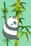 Panda no bambu no estilo dos desenhos animados ilustração royalty free