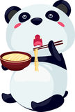 Panda Noodle. On a white background Royalty Free Stock Images