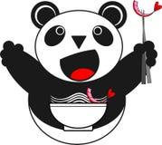 Panda Noodle Shop Royalty-vrije Stock Afbeeldingen