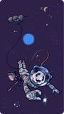 Panda o astronauta. ilustração royalty free