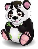 Panda och bambu royaltyfri illustrationer