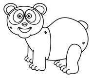 Panda ono uśmiecha się dla barwić ilustracja wektor