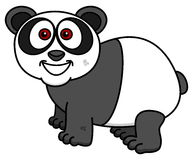 Panda ono uśmiecha się na profilu royalty ilustracja