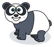Panda ono uśmiecha się na profilu ilustracji