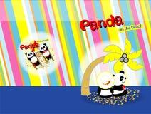 Panda op strand 05 Royalty-vrije Stock Afbeeldingen