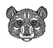 Panda ornementé ethnique, ours Illustration de vecteur illustration de vecteur