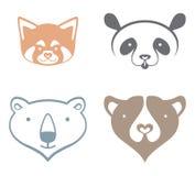 Panda, oso polar, oso marrón Foto de archivo