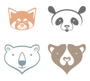 Panda, ours blanc, ours brun Photo stock