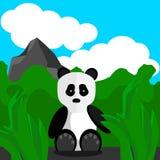 Panda Outdoors illustration de vecteur