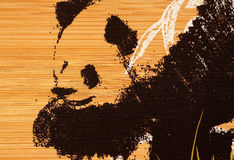 Panda paint Royalty Free Stock Image