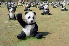 Panda Pattern in Danok Royalty Free Stock Photo