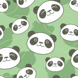 Panda pattern Stock Photo