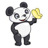 Panda pequena e borboleta Imagem de Stock Royalty Free