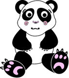 Panda plush toy. Illustration isolated Royalty Free Stock Photos