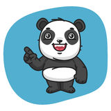Panda Points Finger Image libre de droits