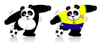 Panda puchar świata ilustracja wektor