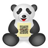 Panda QR code Royalty Free Stock Images