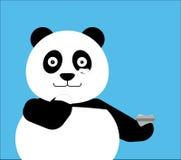Panda que aplica o creme à cara, tratamento dos termas Imagens de Stock Royalty Free
