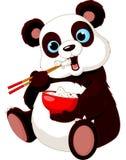 Panda que come o arroz ilustração royalty free