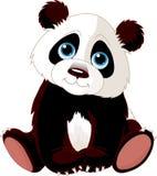 Panda que se sienta ilustración del vector