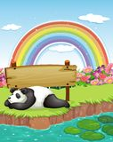 Panda and rainbow Stock Images
