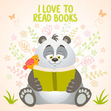 Panda reads Royalty Free Stock Photos