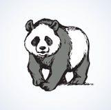 Panda Retrait de vecteur Photographie stock libre de droits