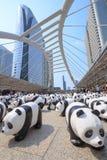 Panda's in Bangkok Stock Afbeelding