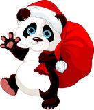 Panda with a sack full of gifts Stock Photography