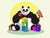 Panda Sale y promociones Foto de archivo