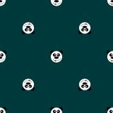 Panda sans couture de modèle Images libres de droits