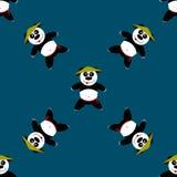 Panda sans couture de modèle Photographie stock