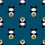 Panda sans couture de modèle Image libre de droits