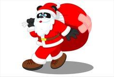Panda Santa Imagens de Stock Royalty Free