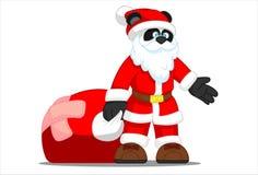 Panda Santa Imagens de Stock
