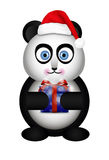 Panda in the Santa hat Stock Photography