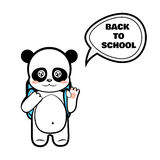 Panda schoolboy Royalty Free Stock Images