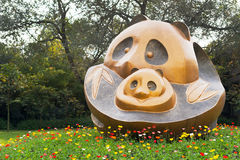 Panda Sculpture Immagine Stock
