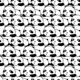 Panda Seamless Pattern ilustração stock