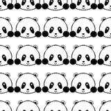 Panda Seamless Pattern ilustração do vetor