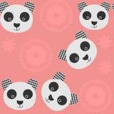 Panda Seamless Pattern Il est situé dans le menu d'échantillon, ima Photographie stock libre de droits