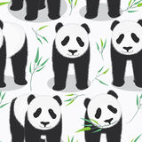 Panda Seamless Pattern Royalty Free Stock Photo