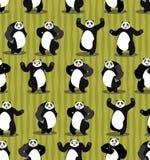 Panda Seamless Pattern Ornement d'ours de Chinois Animal sauvage réglé Image libre de droits