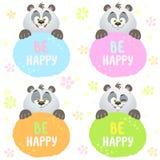 Panda set Zdjęcie Stock