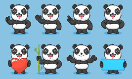 Panda Set Characters Part 1 illustration stock