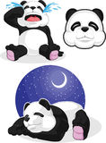 Panda Set 2 - dormant, pleurant, Panda Head Illustration de Vecteur