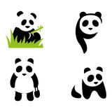 Panda. A set of panda illustrations Royalty Free Stock Photo