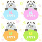 Panda set Stock Photo